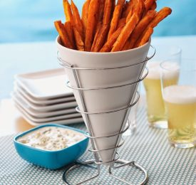Sweet Potato Fries with Blue Cheese Dressing