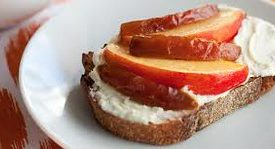Crostini with Mascarpone, Nectarines and Medjool Dates