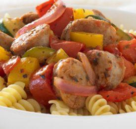 Rotini à la tomate et saucisses italiennes