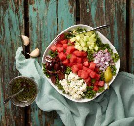 Salade grecque à la pastèque