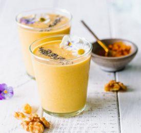 Yogourt frappé au curcuma, vanille et orange