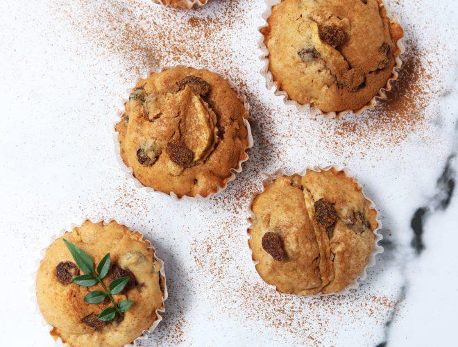 Rum Raisin Apple Muffins