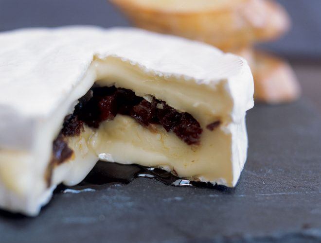 Camembert Filled with California Prunes and Truffle Oil