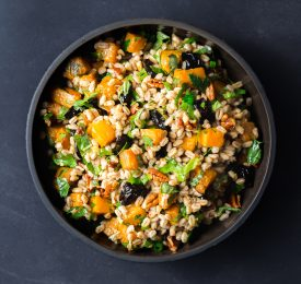 Farro with California Prunes, Butternut Squash & Pecans