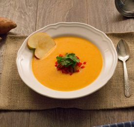 Savoury Sweet Potato Apple Soup