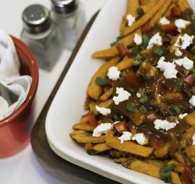 Savoury Sweet Potato Poutine