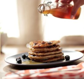 Blueberry Pancakes with Florida Orange Juice