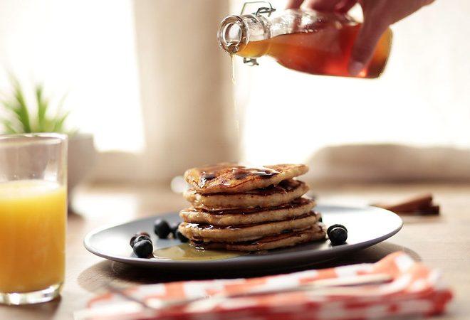 Blueberry Pancakes with Florida Orange Juice
