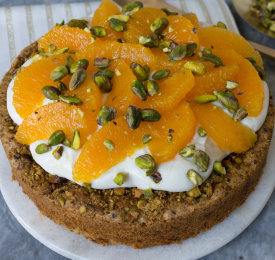 Wonderful Pistachios Cake with Yogurt and Winter Citrus