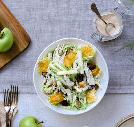 Salade César aux pommes