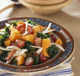 Sweet Potato, Bacon and Grape Salad