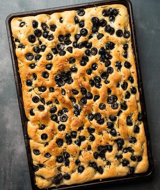 Rosemary Olive Focaccia Bread