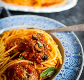 Spicy Olive Meatballs