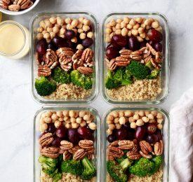 Plats végétaliens au quinoa et à la pacane