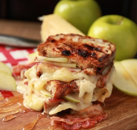Grilled Cheese au brie, fromage fort et à la Pomme verte Granny Smith